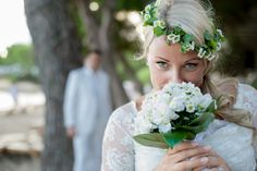 Hippy Bride Ibiza Hippie Bride, Girls Dresses, Flower Girl Dresses, Hippy, Ibiza, Bouquet, Crown, Bridal, Wedding Dresses