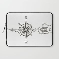 """Compass with Arrow Laptop Sleeve by Beatrzxe 