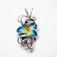 Retro Abstract Freeform Wire Wrapped Light Blue by Nixcreations