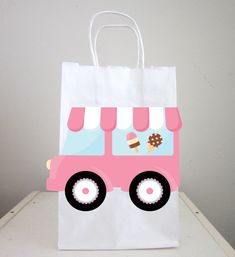 Ice Cream Party Bags, Ice Cream Truck Goody Bags by CraftyCue on Etsy