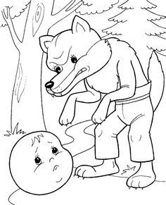 волк раскраска - Google keresés
