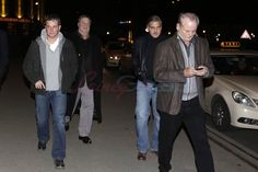 Matt Damon, John Goodman, George Clooney, and Bill Murray out for dinner in Germany --- How do you get invited to this party!?! PLEASE!!!