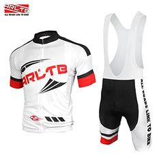 Arltb Cycling Jersey and Bib Shorts Set Bicycle Bike Short Sleeve Jersey Clothing Apparel Suit Padded Breathable Quick Dry Non Slip for Mountain Bike Road Bike MTB BMX Racing Outdoor -- Click image to review more details.