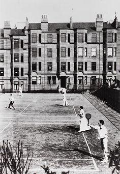 Tennis courts on North Gardner Street, Partickhill, 1900