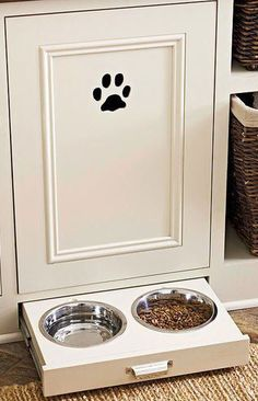 Organized Pet Bowl in Draw