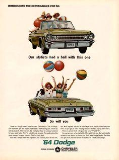1964 Dodge Ad. Beautiful car, happy ad.