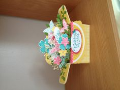 Stampin' Up! Petite Petals, Flower Shop, pansy punch; Card In A Box