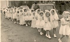 my aunt's Holy Communion in I LOVE this photo