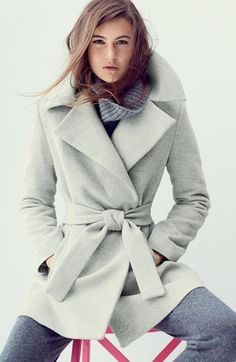 this trina turk wrap coat is SO GOOD (from #nordstrom)