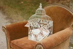 Birdcage card holder.