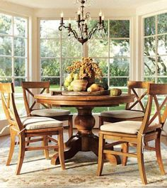 big windows in eating area. (Room Decorating Ideas, Room Décor Ideas & Room Gallery | Pottery Barn)