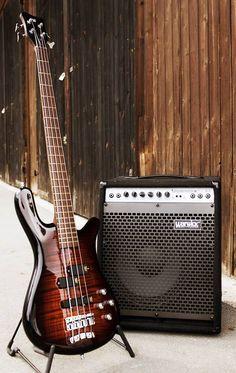 Red 4 String Warwick Bass Guitar
