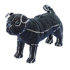 Grass Roots Creations Pug Dog Beadworx Sculpture, Black - http://weloveourpugs.net/grass-roots-creations-pug-dog-beadworx-sculpture-black/