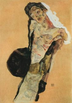 ericpenington:  Egon Schiele, Self-Portrait, 1911.