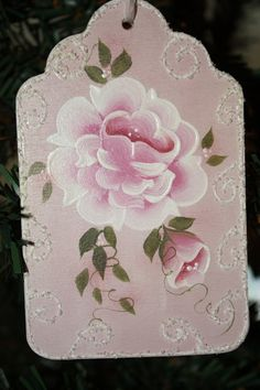 Victorian+Rose+Pink+Wood+Tag+by+TracysCrtns+on+Etsy,+$7.50