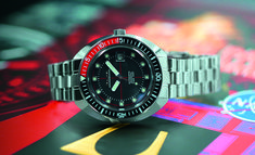 """The Bulova Oceanographer Special Edition """"Devil Diver"""" # divewatch Stainless Steel Screws, Stainless Steel Bracelet, Bulova Watches, Affordable Watches, Web Magazine, Mechanical Watch, Retro Design, Snorkeling, Cool Watches"""