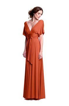 Sakura Long Convertible Dress Burnt Orange - Long Gown - Convertible Dresses - Shop