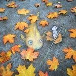 Quirky New Chalk Characters on the Streets of Ann Arbor by David Zinn