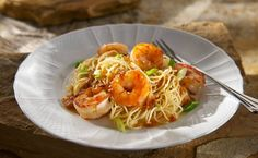 Asian Sweet Chili Shrimp with Sesame Noodles