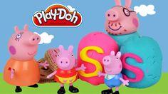 Peppa Pig Play Doh Surprise eggs Playdough Toys English episodes