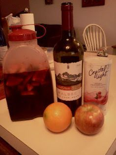 """Easy """"skinny"""" sangria.  You will never taste the difference!  Perfect for a warm, sunny day."""