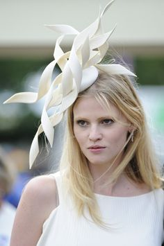 Model Lara Stone at Royal Ascot