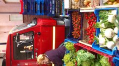 Fruit & Veg market in Sarnano, Le Marche, Italy