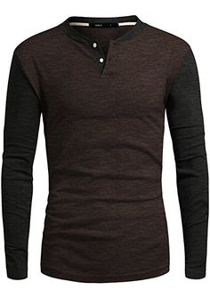 Men's Clothing, T-Shirts & Tanks, T-Shirts,Men's Henley Shirt Casual Long Sleeve Two Tone Shirt - - # # Henley Shirts, Mens Tee Shirts, T Shirt, Formal Shirts, Casual Shirts, Mens Clothing Styles, Men's Clothing, Stylish Mens Outfits, Designer Clothes For Men