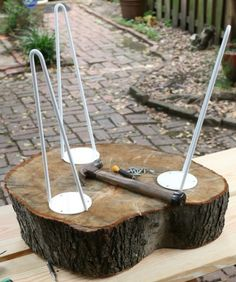 diy-rustic-end-table-from-a-tree-stump-slice- 6