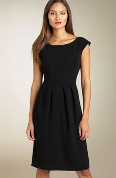 """Little Black Dress   *with boat-neck.    """"The cut of the dress is kept very simple and length can vary, depending on the current designer trend. Originally the little black dress was made popular in the 1920s, by the well known fashion designer Coco Chanel."""""""