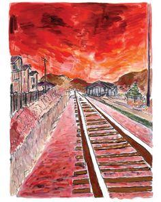 Bob Dylan Train Tracks(Red)