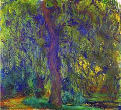 Weeping Willow by Claude Monet (with purple)