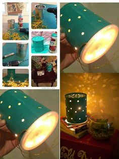 Tin can into lamp