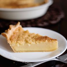 Looking for the perfect holiday pie? This old-fashioned buttermilk pie is a traditional southern dessert. You'll love the creamy vanilla filling & flakey crust! Vanilla Wafer Banana Pudding, Easy Banana Pudding, Banana Pudding Recipes, Vanilla Custard, Easy Baking Recipes, Pie Recipes, Dessert Recipes, Simple Recipes, Potato Recipes