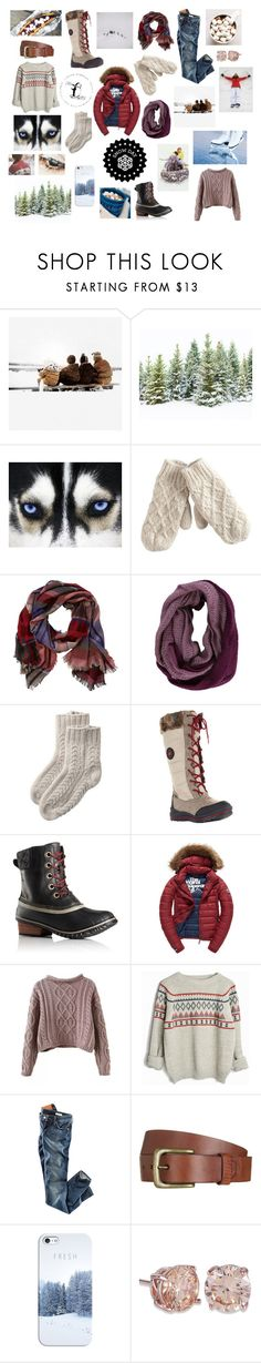 """Snow Day"" by megancvms ❤ liked on Polyvore featuring GE, Pieces, TravelSmith, Cougar, SOREL, Fuji, H&M, Will Leather Goods and Casetify"