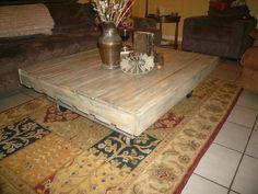 Handcrafted Repurposed Industrial Pallet Coffee Table   eBay