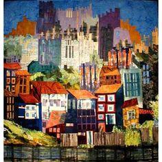 Cityscape art quilts by Elizabeth Barton