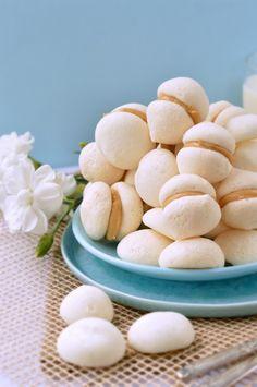 Vegan Meringue with Peanut Butter ganache :http://www.sweetashoney.co.nz/vegan-meringue-with-peanut-butter-ganache/