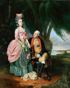 John Wilkes and Mary Wilkes, by Johan Joseph Zoffany, c. 1779-82 (Costume In Detail, pg. 62)