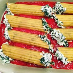 Spinach & Cheese Stuffed Manicotti -One of our all-time favorite family dinners❤️