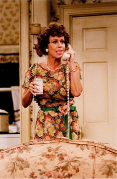 Carol Burnett as 'Eunice Harper Higgins', the main character in the comedy skits, The Family, featured on The Carol Burnett Show (1967-78, CBS). The skit first appeared in 1974 and new installments were aired for the remainder of the series. It spawned a TV movie, and a sitcom spin-off titled Mama's Family starring Vicki Lawrence.