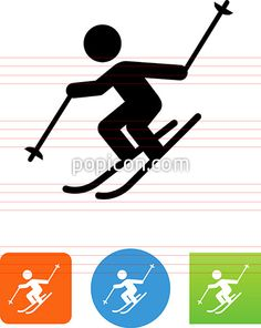 Skiing Icon - Illustration from Popicon