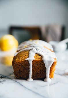Almond Lemon Cake with Vanilla Icing