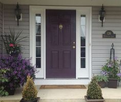 Image result for grey house purple trim