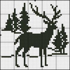 Jednofarebné vzory - bordados tejidos y otros Counted Cross Stitch Patterns, Cross Stitch Charts, Cross Stitch Designs, Cross Stitch Embroidery, Christmas Stocking Pattern, Christmas Knitting, Christmas Cross, Crochet Chart, Filet Crochet