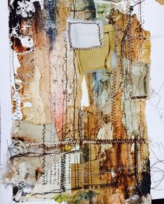Inspiration A-level work @ Highcrest Academy - based on rusted surfaces. Mixed Media Collage, Collage Art, Mixed Media Photography, Textile Fiber Art, Gcse Art, Art Journal Pages, Art Plastique, Fabric Art, Medium Art