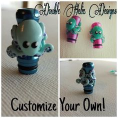 Custom Octopus Drip Tip by DoubleHelixDesigns on Etsy, $13.99