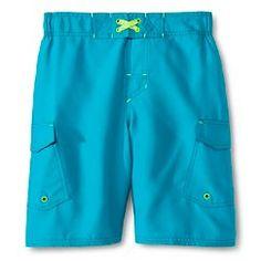 Boys' Solid Swim trunks - Cherokee® - Boardwalk Blue
