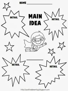 Positively Learning: 5 for Friday & Main Idea Freebie!