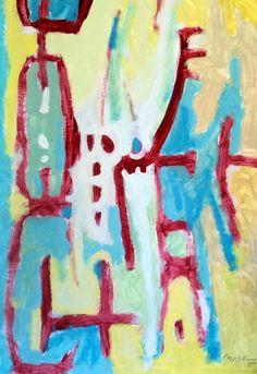 """""""Pintura 161"""" Óleo sobre cartulina 47 x 32 cms 2006"""